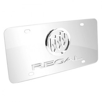 iPickimage® - 3D Regal Logo on Chrome Stainless Steel License Plate with Buick Emblem
