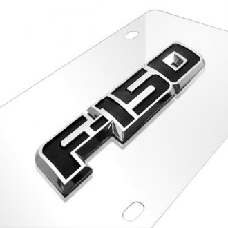 iPickimage® - 3D F-150 Logo on Chrome Stainless Steel License Plate