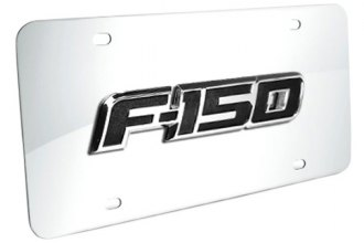 DWD® - 3D F-150 Logo on Chrome Stainless Steel License Plate