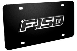 DWD® - 3D F-150 Logo on Black Stainless Steel License Plate