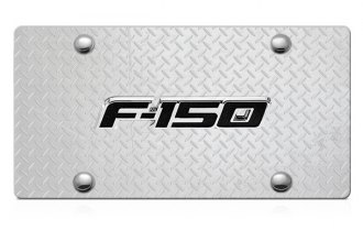 DWD® - 3D F-150 Logo on Diamond Stainless Steel License Plate
