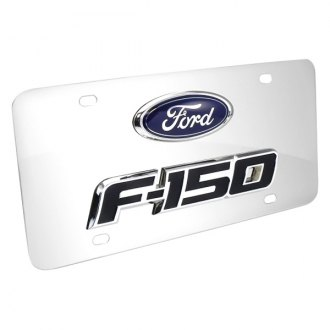 iPickimage® - 3D F-150 Double Logo on Chrome Stainless Steel License Plate