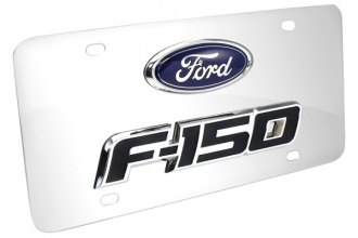 DWD® - 3D F-150 Double Logo on Chrome Stainless Steel License Plate