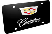 DWD® - 3D F-150 Double Logo on Black Stainless Steel License Plate