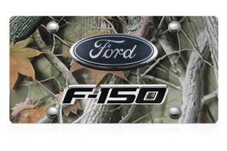 DWD® - 3D F-150 Double Logo on Camo Stainless Steel License Plate