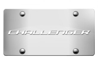 DWD® - 3D Challenger Logo on Chrome Stainless Steel License Plate