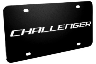 DWD® - 3D Challenger Logo on Black Stainless Steel License Plate