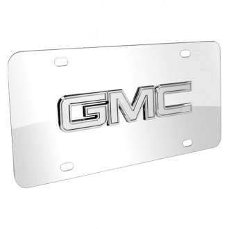 DWD® - 3D GMC Chrome Logo on Chrome Stainless Steel License Plate