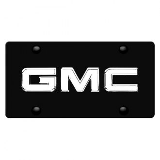 DWD® - 3D GMC Chrome Logo on Black Stainless Steel License Plate