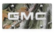 DWD® - 3D GMC Chrome Logo on Camo Stainless Steel License Plate