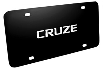 DWD® 316433 - 3D Cruze Logo on Black Stainless Steel License Plate