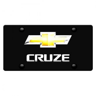 iPickimage® - License Plate with Cruze Logo and Gold New Chevrolet Emblem