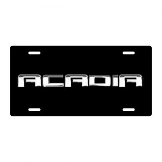 DWD® - 3D Acadia Logo on Black Stainless Steel License Plate