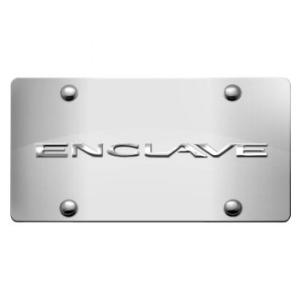DWD® - 3D Enclave Logo on Chrome Stainless Steel License Plate