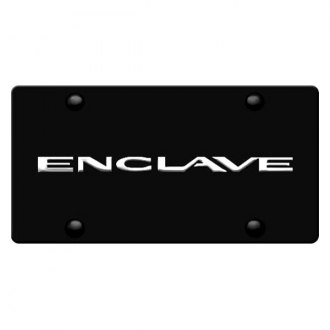 DWD® - 3D Enclave Logo on Black Stainless Steel License Plate