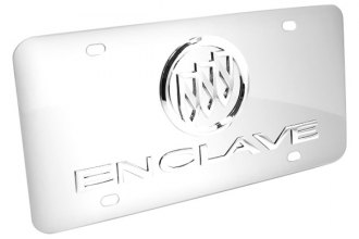 DWD® - 3D Enclave Logo on Chrome Stainless Steel License Plate with Buick Emblem