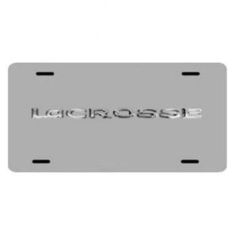 iPickimage® - 3D Lacrosse Logo on Chrome Stainless Steel License Plate