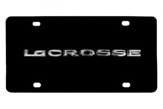DWD® - 3D Lacrosse Logo on Black Stainless Steel License Plate