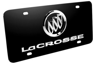 DWD® - 3D Lacrosse with Buick Logo on Black Stainless Steel License Plate