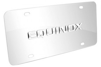 DWD® - 3D Equinox Logo on Chrome Stainless Steel License Plate