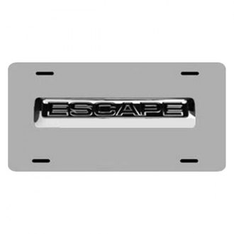 DWD® - 3D Escape Logo on Chrome Stainless Steel License Plate