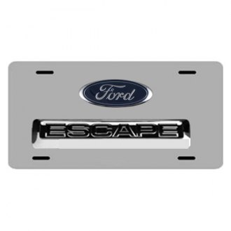 DWD® - 3D Escape with Ford Oval Logo on Chrome Stainless Steel License Plate
