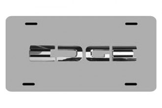 DWD® 317171 - 3D Edge Logo on Chrome Stainless Steel License Plate