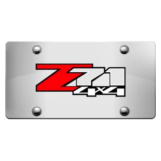 iPickimage® - 3D Z71 4X4 Logo on Chrome Stainless Steel License Plate