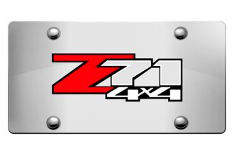 DWD® - 3D Z71 4X4 Logo on Chrome Stainless Steel License Plate