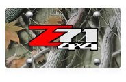 DWD® - 3D Z71 4X4 Logo on Camo Stainless Steel License Plate