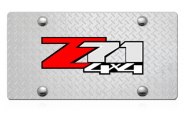DWD® - 3D Z71 4X4 Logo on Diamond Stainless Steel License Plate