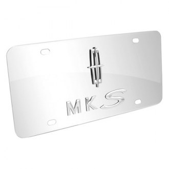 DWD® - 3D MKS with Lincoln Star Logo on Chrome Stainless Steel License Plate
