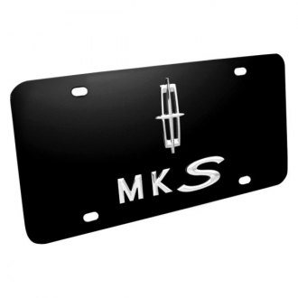 DWD® - 3D MKS with Lincoln Star Logo on Black Stainless Steel License Plate
