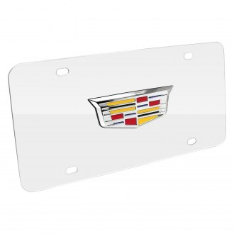 iPickimage® - 3D Cadillac New Logo on Chrome Stainless Steel License Plate