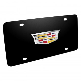 iPickimage® - 3D Cadillac New Logo on Black Stainless Steel License Plate