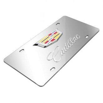 iPickimage® - 3D Cadillac New Double Logo on Chrome Stainless Steel License Plate