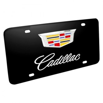 iPickimage® - 3D Cadillac New Double Logo on Black Stainless Steel License Plate