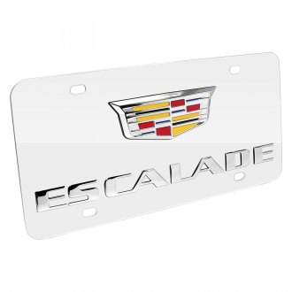 iPickimage® - 3D Escalade New Logo on Chrome Stainless Steel License Plate