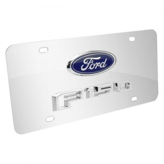 iPickimage® - Chrome License Plate with Chrome F-150 Logo and Ford Emblem