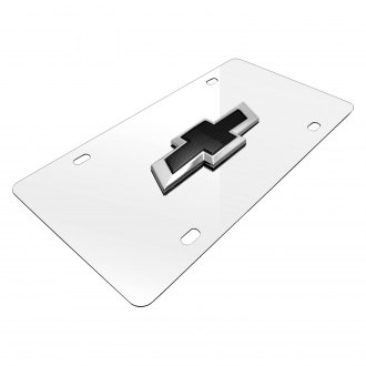 iPickimage® - 3D New Black Bowtie on Chrome Stainless Steel License Plate