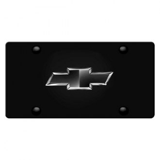 iPickimage® - 3D New Black Bowtie on Black Stainless Steel License Plate