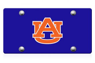 DWD® - Auburn AU Logo on Blue Laser Cut License Plate