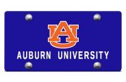 DWD� - Auburn University Logo on Blue Laser Cut License Plate