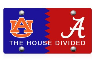 DWD® - House Divided Ala-AU Logo on Multi Laser Cut License Plate