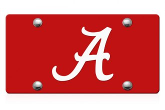 DWD® - Alabama A Logo on Red Laser Cut License Plate
