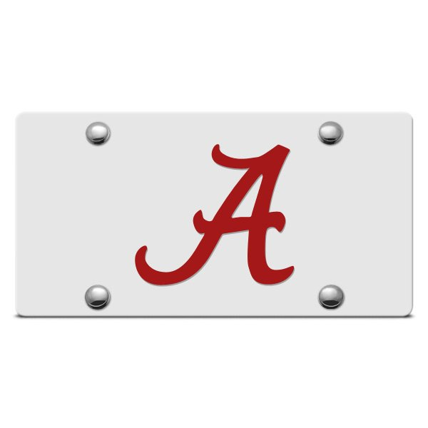 DWD® - Alabama A Logo on Silver Laser Cut License Plate