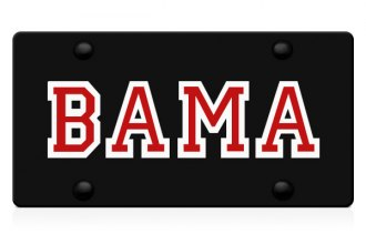 DWD® - Bama Logo on Black Laser Cut License Plate