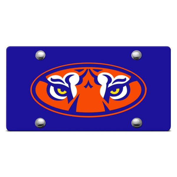 DWD® - Tiger Eyes Logo on Blue Laser Cut License Plate
