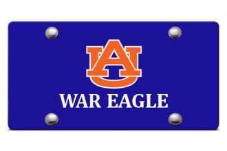 DWD® - AU War Eagle Logo on Blue Laser Cut License Plate