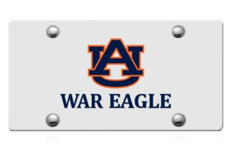 DWD® - AU War Eagle Logo on Silver Laser Cut License Plate